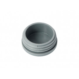 Round Tube End Cap - 40 mm, Grey