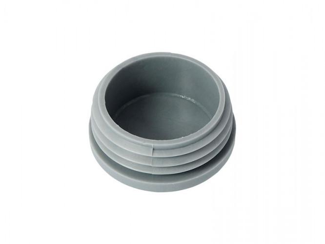 Тапа за кръгла тръба - Диаметър ф40, Сив