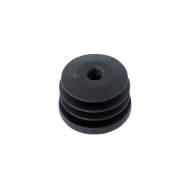 Тапа за кръгла тръба или профил - ф40, С метрична резба M10, Черен