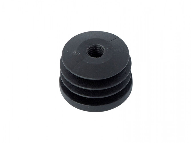 Тапа с метрична резба за кръгла тръба - ф40, Черен