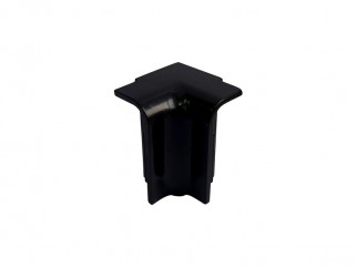 Internal Corner For PVC Convex Skirting - Mini, Black