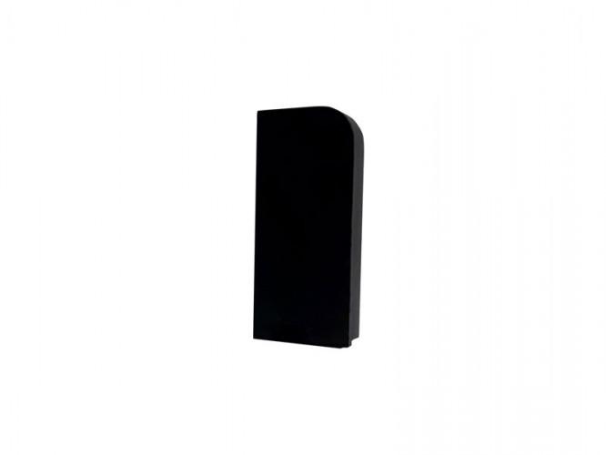 End Cap For PVC Convex Skirting - Mini, Left, Black