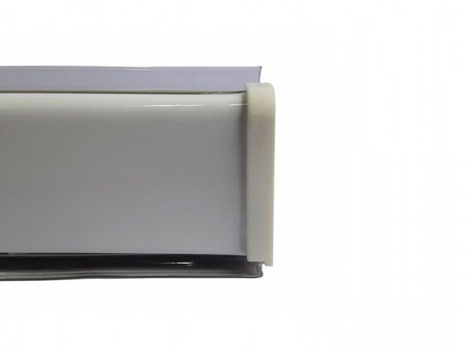 PVC Convex Skirting - Mini, White, 4 m