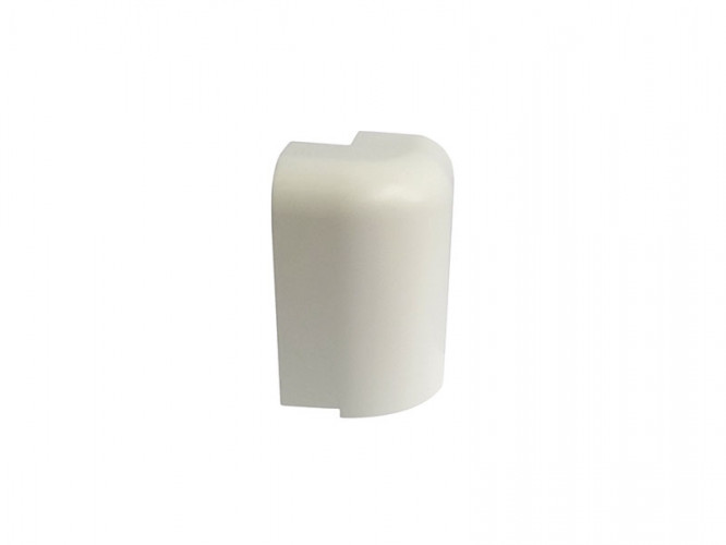 External Corner For PVC Convex Skirting - Mini, White