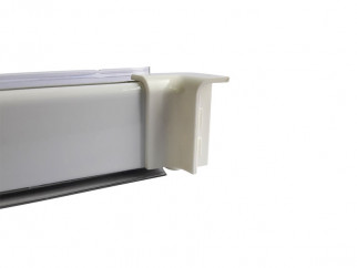 Internal Corner For PVC Convex Skirting - Mini, White