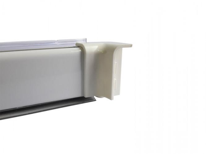 Internal Corner For PVC Convex Skirting - Mini, White