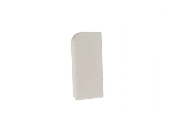 End Cap For PVC Convex Skirting - Mini, Right, White
