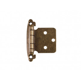 Self Closing Furniture Hinge - Overlay, Bronze