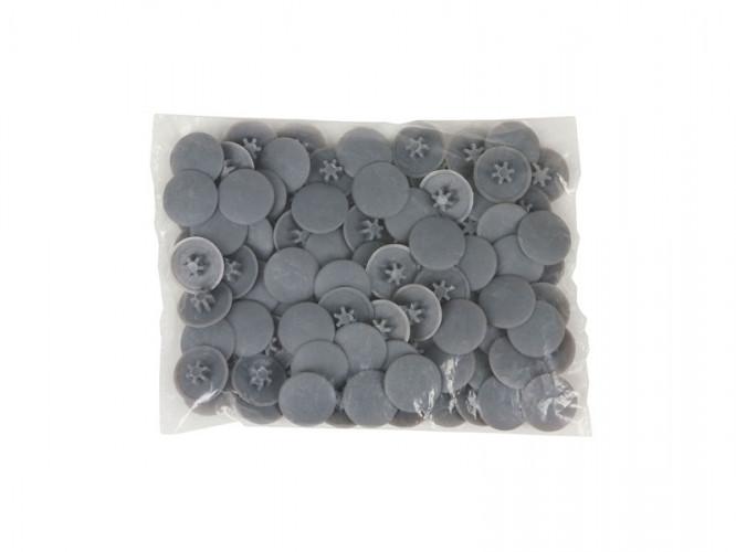 Пластмасови декоративни тапи за винтове - Сив, TX 30