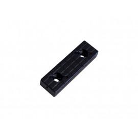 Пластмасова петичка за мебели - Черен