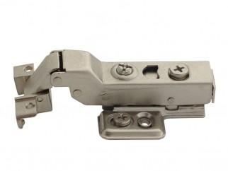Хидравлична мебелна панта за алуминиеви вратички - полупокрит кант