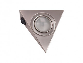 GTV Pyramidal Surface Mounted Halogen Light - Inox