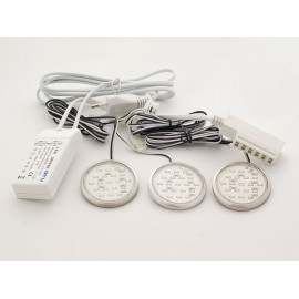 Комплект диодни лунички с трансформатор GTV LED3 - Никел мат