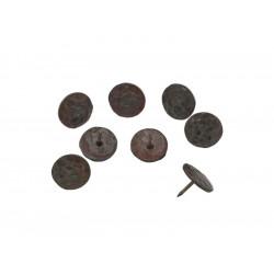 Кръгъл декоративен кабър от ковано желязо - ф25 мм