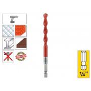 """Универсално свредло (бургия) с 1/4"""" опашка Alpen Profi Multicut - ф6.0 мм"""