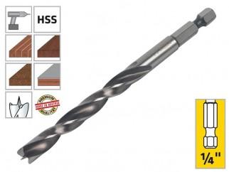 """Свредло (бургия) за дърво Alpen Profi Holz - 1/4"""" опашка, 8 мм"""
