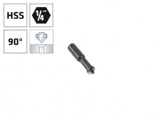 """Конусовиден зенкер за метал с 1/4"""" опашка Alpen HSS - ф6.3 мм, М3"""