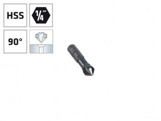 """Конусовиден зенкер за метал с 1/4"""" опашка Alpen HSS - ф8.3 мм, М4"""