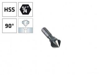 """Конусовиден зенкер за метал с 1/4"""" опашка Alpen HSS - ф10.4 мм, М5"""