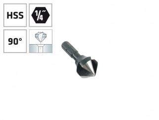 """Конусовиден зенкер за метал с 1/4"""" опашка Alpen HSS - ф12.4 мм, М6"""