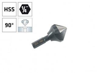 """Конусовиден зенкер за метал с 1/4"""" опашка Alpen HSS - ф20.5 мм, М10"""