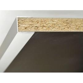 П-образен укрепващ профил за кант дръжки за мебели - 2.5 метра