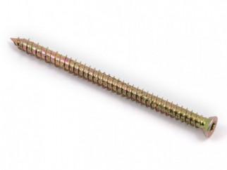 KAMA Metal Frame Countersunk Head Screw - 7.5 х 112 mm, Yellow zinc
