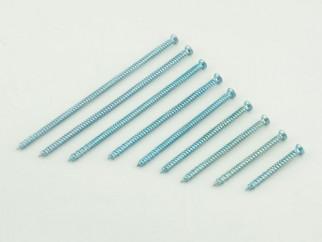 KAMA Metal Frame Countersunk Head Screw - 7.5 х 122 mm, White zinc