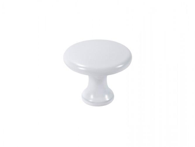 Мебелна дръжка Udine - С един винт, Бял мат