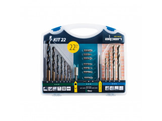 Alpen Kit 22 Drills & Bits Set