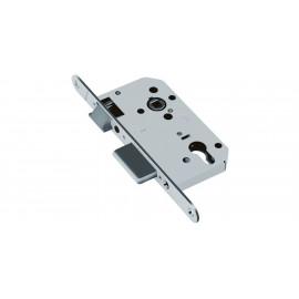Основна брава за секретен патрон 70 x 50 мм, Хром мат, по БДС