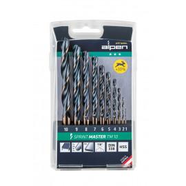 Комплект свредла (бургии) за метал Alpen Sprint Master TM 10