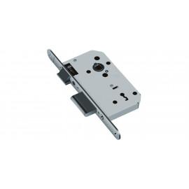 Основна брава за дървени интериорни врати FAB - Обикновен ключ, Хром мат