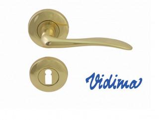 Дръжки за врати Vidima Sirius - обикновен ключ, месинг