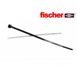 Кабелни връзки FISCHER бели/черни, 100бр.