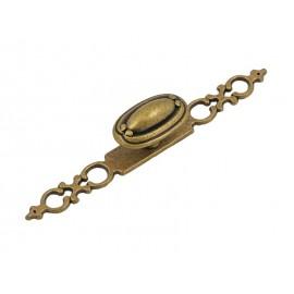 Ретро дръжка за мебели 1146 - С един винт, Старо злато