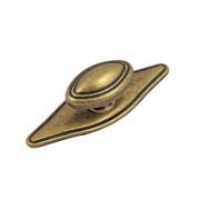 Ретро дръжка за мебели GTV 1152 - С един винт, Старо злато