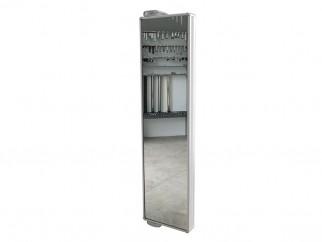 Огледална врата с рафтове F01