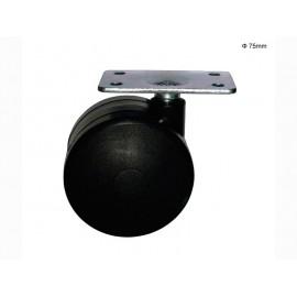 Усилено колелце за мебели с планка PPB 75 - ф75 мм