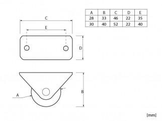 Двупосочни мебелни колелца XHV