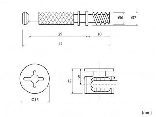 Минификс с болт и ексцентрик SEM-MF-1004