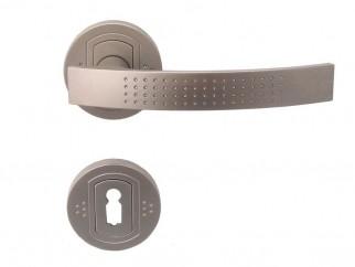 Дръжка за врати Аргус - за обикновен ключ, никел мат