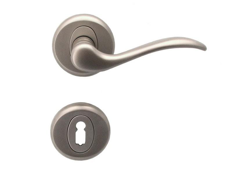 Baron Interior Door Handles Standard Key Matt Nickel Door Handles
