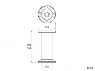 Мебелно краче KR-868 - хром мат