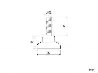 Крак за мебели KR-CZМ10