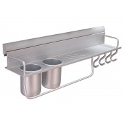 Алуминиев мултифункционален рафт за кухня KAMA - 600 мм