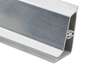 Aluminium Convex Skirting - S-Type, chrome