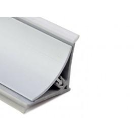 Aluminium Convex Skirting - Y-Type, Matte Chrome
