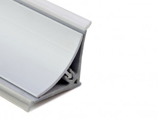 Aluminium Convex Skirting - Y-Type, Matte Chrome