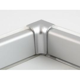 Aluminium Convex Skirting - Mini, Matte Chrome